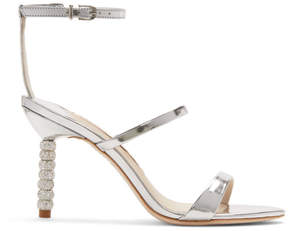 Sophia Webster Silver Metallic Rosalind Mid Sandals