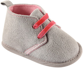 Luvable Friends Gray & Pink Desert Bootie - Girls