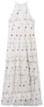 Speechless Embroidered Pleated Maxi Dress, Big Girls
