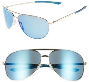 Smith Women's Serpico Slim 2.0 65Mm Chromapop Polarized Aviator Sunglasses - Gold/ Blue Polar
