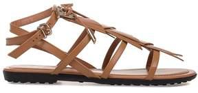 Tod's Caramel Leather Sandal
