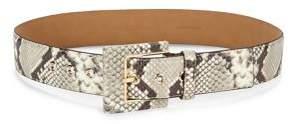 MICHAEL Michael Kors Snakeskin-Print Leather Hip Belt