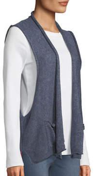 eskandar Linen Rolled-Front Vest