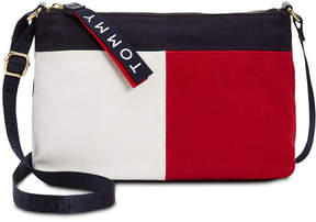 Tommy Hilfiger Bottom Flag Canvas Crossbody