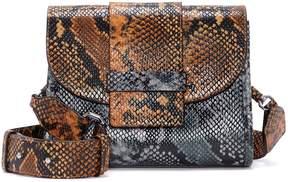 Louise et Cie Arina Snake-embossed Shoulder Bag