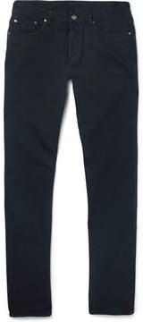 Ermenegildo Zegna Slim-Fit Brushed Stretch-Cotton Twill Trousers