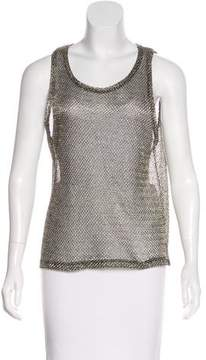 Anine Bing Sleeveless Metallic Top