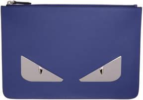 Fendi Blue Bag Bugs Pouch