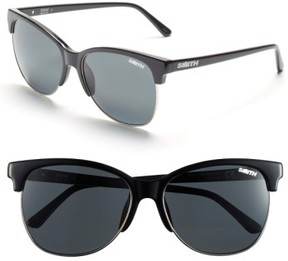 Smith Women's 'Rebel' 57Mm Cat Eye Sunglasses - Black/ Polar Gray