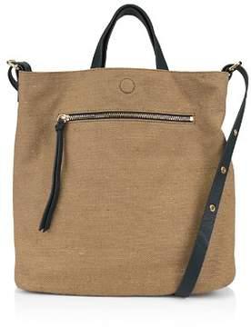 Kooba Bolivia Reversible Leather & Linen Tote