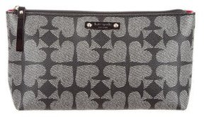 Kate Spade New York Shiloh Pebbled Ace Of Spades Cosmetic Bag