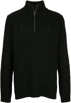 Roar zipped neck jumper