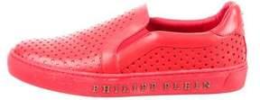 Philipp Plein Embossed Leather Sneakers