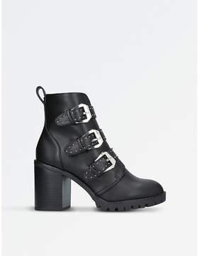 Miss KG Ladies Black Stylish Saxon Biker Boots