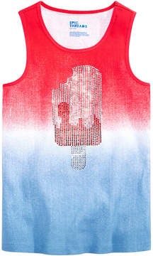 Epic Threads Rhinestone Ribbed Cotton Tank Top, Big Girls, Created for Macy's