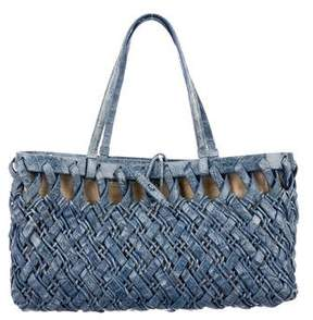 Nancy Gonzalez Crocodile Basket Tote