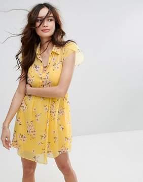 Abercrombie & Fitch Floral Print Tea Dress