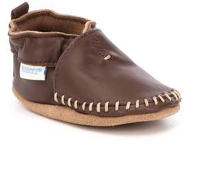 Robeez Baby Boys Newborn-24 Months Classic Moccasin Shoes