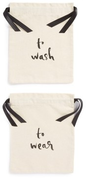 Kate Spade New York 'Wash And Wear' Lingerie Bag Set - White