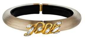 Alexis Bittar Lucite & Crystal Hinged Bracelet