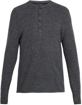 Rag & Bone Giles ribbed-knit wool henley top