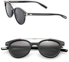 Christian Dior Black Tie 220 51MM Round Panto Sunglasses