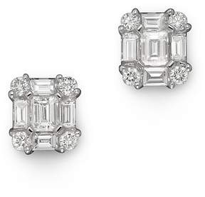 Bloomingdale's Diamond Emerald-Cut Earrings in 14K White Gold, .85 ct.tw. - 100% Exclusive