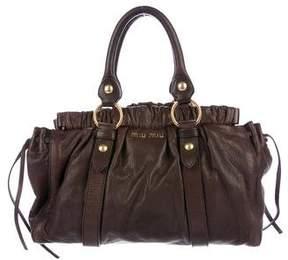 Miu Miu Grained Leather Satchel