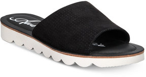 American Rag Cosmia Perforated Slide Sandals, Created for Macy's Women's Shoes