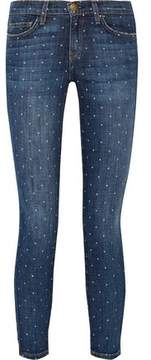 Current/Elliott The Stiletto Printed Low-Rise Skinny Jeans