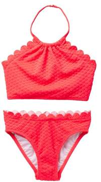 Kate Spade Scalloped Two-Piece Swimsuit (Big Girls)