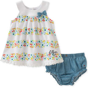 Tommy Hilfiger 2-Pc. Floral-Print Top & Bloomers Set, Baby Girls