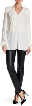 Basler Faux Leather Pull-On Trousers