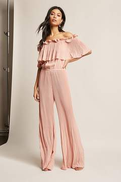 Forever 21 Pleated Chiffon Jumpsuit
