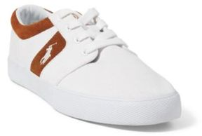Ralph Lauren Halmore Ii Canvas Sneaker White/New Snuff 15