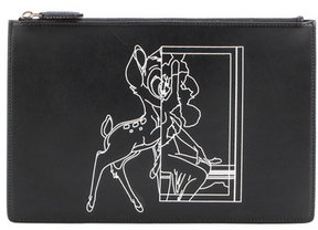 Givenchy Medium Pouch Bambi© printed leather clutch