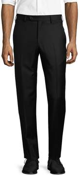 Lubiam Men's Solid Wool Trousers