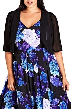 City Chic Plus Size Women's Chiffon Shrug