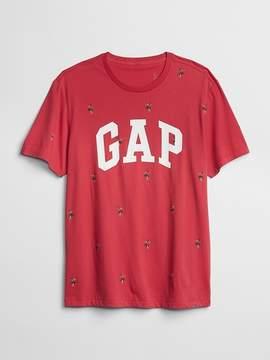 Gap Logo Tropical Print Short Sleeve Crewneck T-Shirt