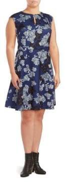 Alexia Admor Floral Fit-&-Flare Dress