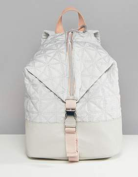 Fiorelli Sport Quilted Zip Detail Backpack in Gray