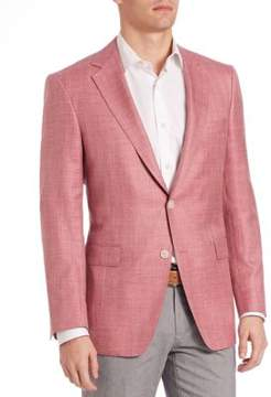 Saks Fifth Avenue COLLECTION BY SAMUELSOHN Classic-Fit Herringbone Sportcoat