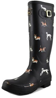 Joules Wellyprint Round Toe Synthetic Rain Boot.