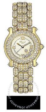 Chopard Happy Sport Diamond 18kt Yellow Gold Ladies Watch