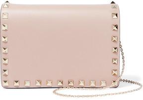 Valentino The Rockstud Mini Leather Shoulder Bag - Blush