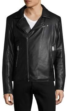 Karl Lagerfeld Men's Asymmetrical Motorcycle Jacket