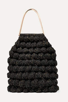 Ulla Johnson Barranco Crocheted Cotton And Lurex-blend Tote - Black