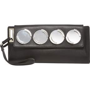 Diesel Black Leather Clutch Bag