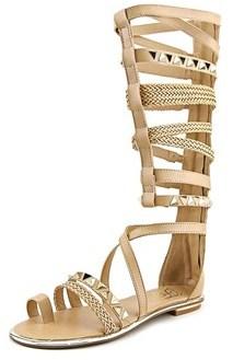 Fergie Smith Women Open Toe Synthetic Brown Gladiator Sandal.