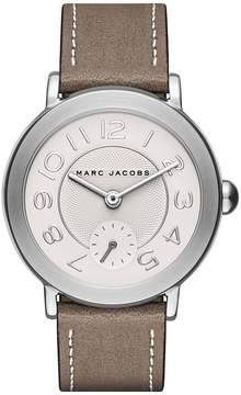 Marc Jacobs Riley Three-Hand Brown Leather Watch